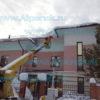 Уборка снега с помощью телевышки