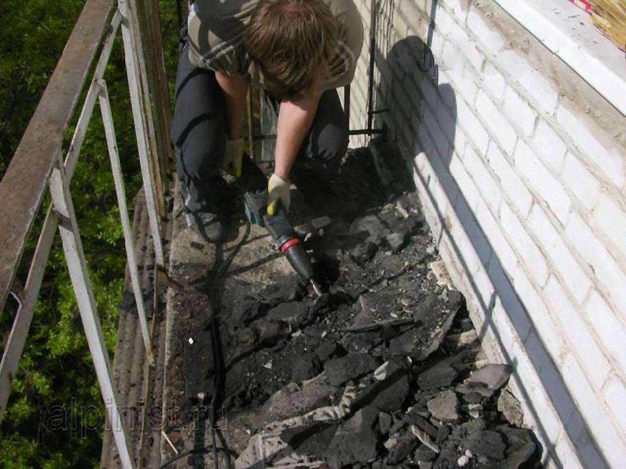 Ремонт и восстановление балконной плиты . цена - 425.00 руб..