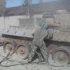Пескоструйная очистка корпуса танка