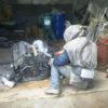 Пескоструйная очистка двигателя внутреннего сгорания